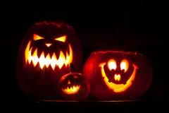 Halloween. Three Jack'o Royalty Free Stock Photography