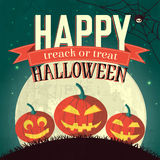 Halloween time background concept in retro style. Stock Photography