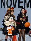 Halloween in Tokyo. TOKYO - OCTOBER 31 : Japanese girls celebrates Halloween on October 31 2009 in Tokyo Japan , Halloween has become popular in Japan in recent stock photo