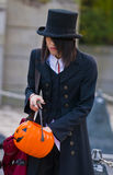 Halloween in Tokyo. TOKYO - OCTOBER 31 : Japanese boy celebrates Halloween on October 31 2009 in Tokyo Japan , Halloween has become popular in Japan in recent royalty free stock image