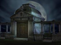 Halloween Tomb Stock Photo