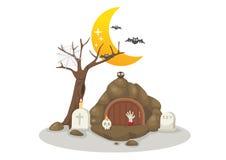 Halloween tombs vector Stock Image