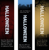 Halloween tombstone banners Royalty Free Stock Photo