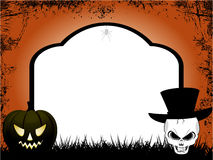 Halloween tombstone copy space Royalty Free Stock Photos