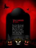 Halloween tombstone with sample text Stock Photography