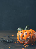 Halloween toned background. Vertical Royalty Free Stock Image