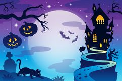 Halloween topic background 3 Stock Images