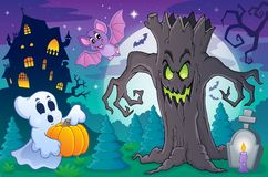 Halloween topic scene 6 Royalty Free Stock Image