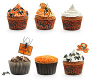Halloween torty ustawiający Obrazy Royalty Free