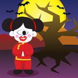 Halloween Traditional Chinese Girl Royalty Free Stock Photo