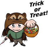 Halloween: treak behandelend actie Royalty-vrije Stock Afbeeldingen