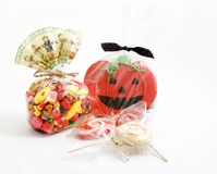 Halloween treats. A variety of halloween goodies Stock Photos