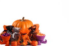 Halloween treats arrangement Royalty Free Stock Image