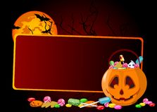 Halloween treats background Royalty Free Stock Photography