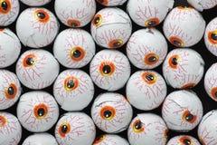 Halloween Treats. Chocolate candy eyeballs for Halloween treats Royalty Free Stock Photography