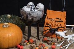 Halloween Treats and Decorations Stock Photos
