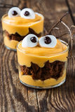 Halloween treats, little monster dessert Royalty Free Stock Image