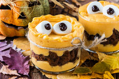 Halloween treats, little monster dessert Royalty Free Stock Photography