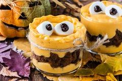 Halloween treats, little monster dessert Royalty Free Stock Photography