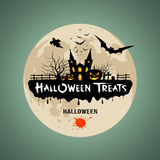 Halloween treats message design Stock Photo