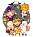 halloween treattrick arkivfoto