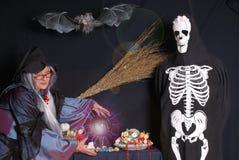 halloween treattrick Arkivbild