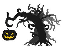 Halloween tree Stock Photography