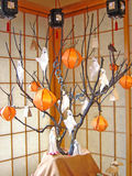 halloween tree Royaltyfri Fotografi