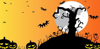 Halloween tree background Royalty Free Stock Images
