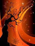 Halloween Tree Background Stock Photos