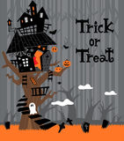 Halloween Tree In Forest Royalty Free Stock Images