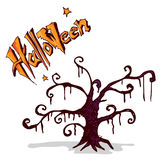 Halloween tree Graves A Stock Images