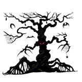Halloween tree by hand drawing. Stock Photography
