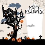 Halloween Tree House Stock Photo