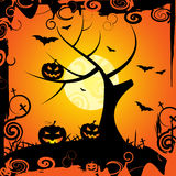 Halloween Tree Means Trick Or Treat And Celebration Stock Photos