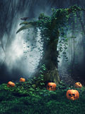 Halloween tree Royalty Free Stock Photos