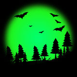 Halloween Tree Represents Trick Or Treat And Autumn Royalty Free Stock Image