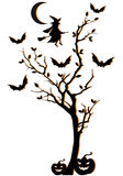 Halloween tree, vector background Stock Photo