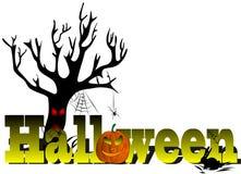 Halloween with tree Stock Photo