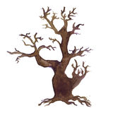 Halloween tree Watercolor hand drawn icon Stock Photography