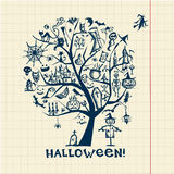 Halloween tree for your design Stock Photography