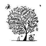 Halloween tree for your design Royalty Free Stock Photos