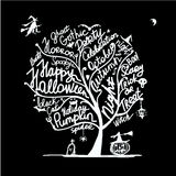 Halloween tree for your design Stock Images