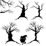 Halloween trees set Stock Photography