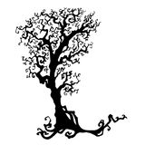 Halloween treevector Illustration  on white Stock Image