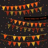 Halloween triangle flags Stock Image