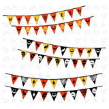 Halloween Triangle Flags Stock Photos