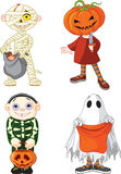 Halloween trick eller behandlingsbarn royaltyfri illustrationer