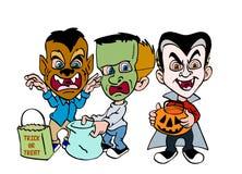 Halloween-Trick oder Festlichkeit Lizenzfreies Stockfoto