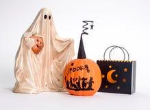 Halloween-Trick-oder Festlichkeit-Dekorationen lizenzfreie stockfotografie